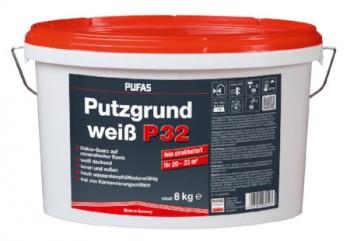 Pufas Putzgrund P32 fein weiß - 8 kg