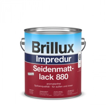 Brillux Impredur Seidenmattlack 880 weiß - 3 L