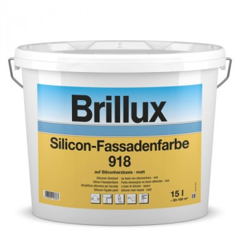 Brillux Silicon-Fassadenfarbe 918 weiß - 10 L