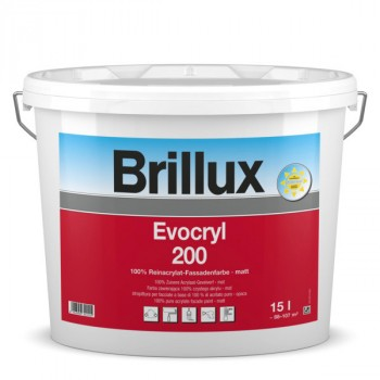 Brillux Evocryl 200 weiß - 15 L