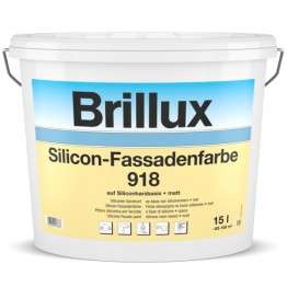 Brillux Silicon-Fassadenfarbe 918 - PG 55 HBW bis 24,9 - 1 L